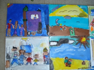 School Spring 07 Acrylic and Canvas
