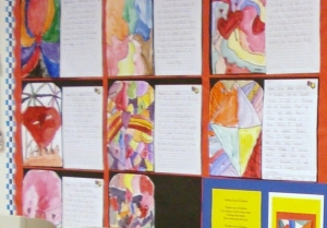 Second Grade Stained Glass Watercolor