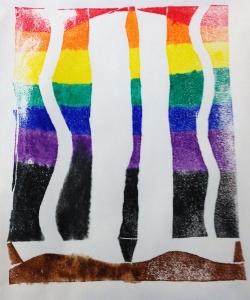 Colorful Zig Zag Print
