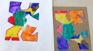 Puzzle Pieces with Plate and Print